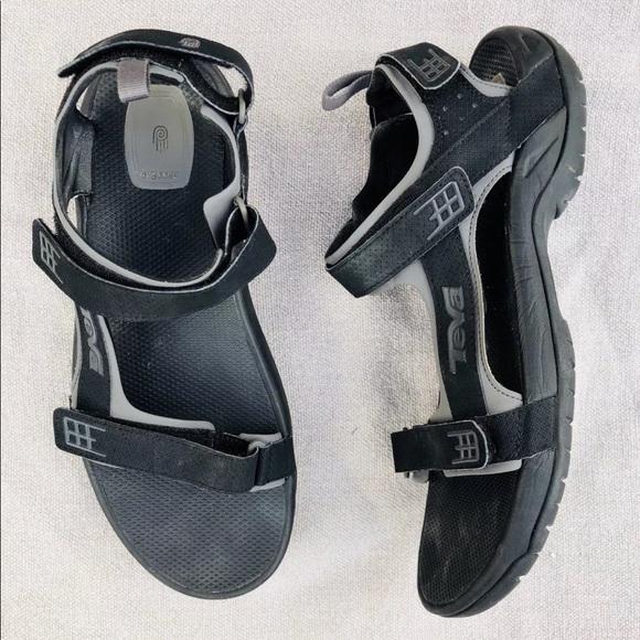 082bde9bdc5b Teva Minam Men s Black Leather Sport Sandals 13. M 5ab559578290af1846be4bcf